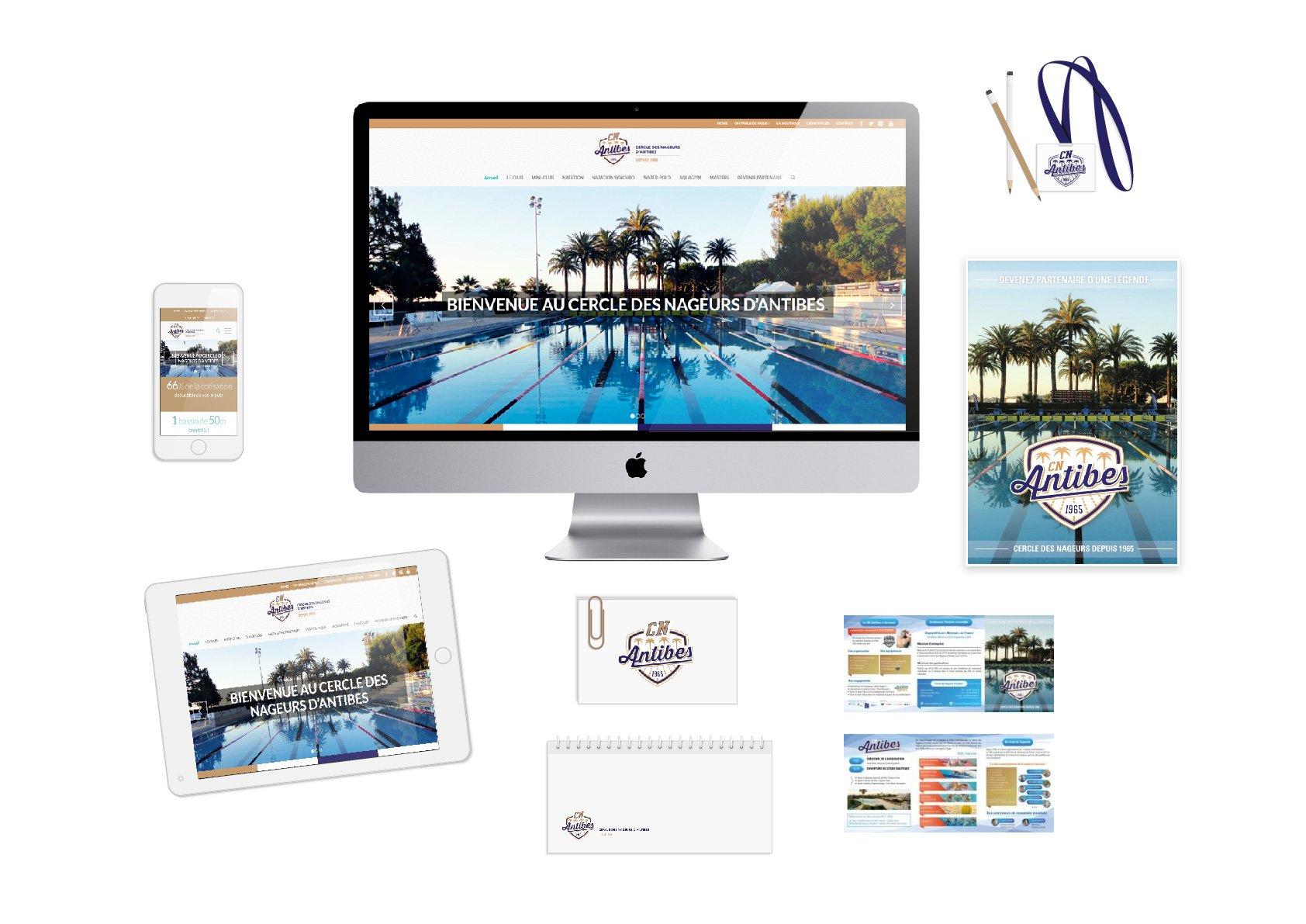 Cercle des nageurs d'Antibes - Identite visuelle