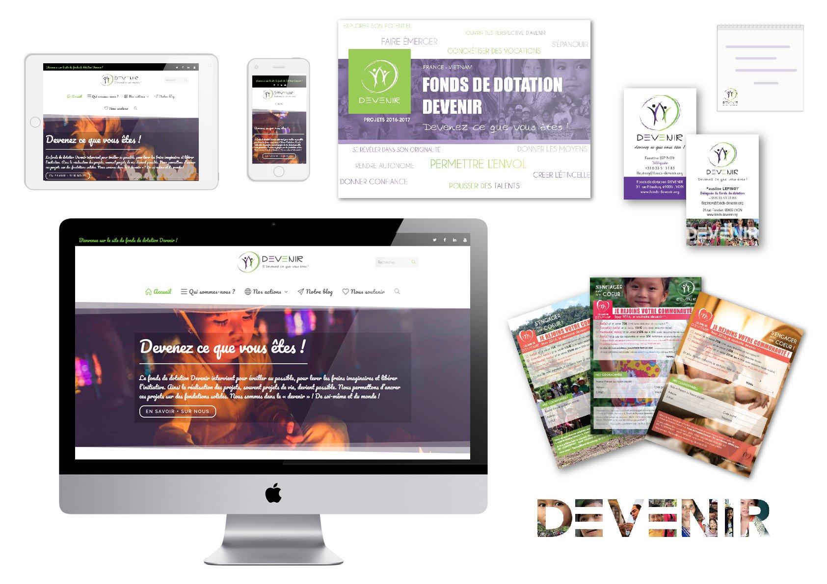 Fonds de dotation Devenir - Identite visuelle